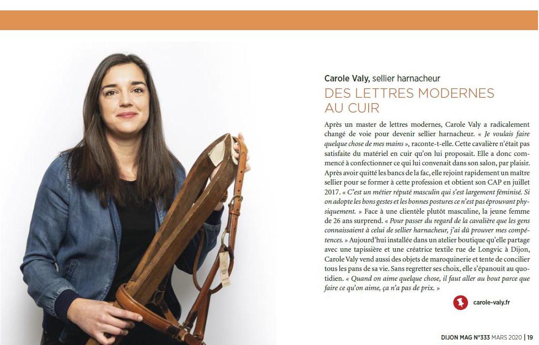 Carole Valy - Dijon Mag Mars 2020